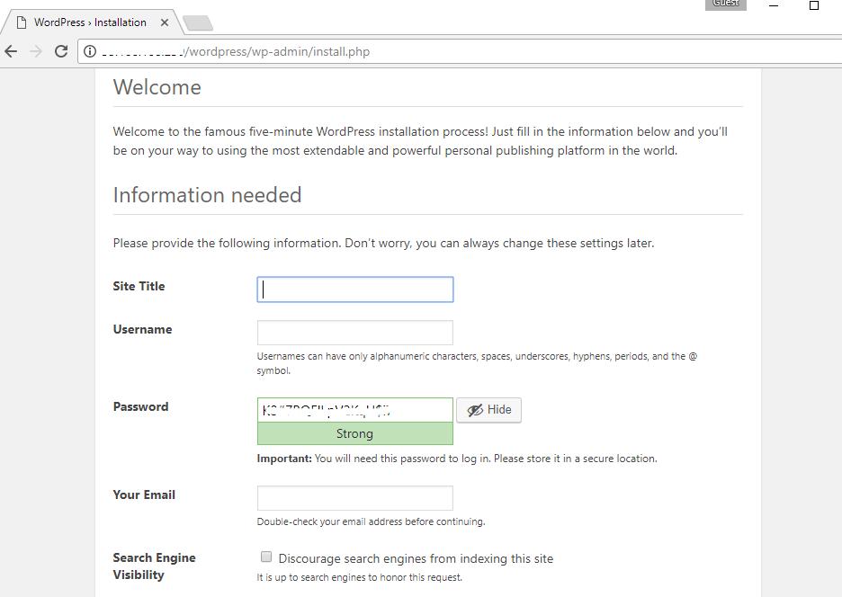 wordpress-on-cloud-fill-details