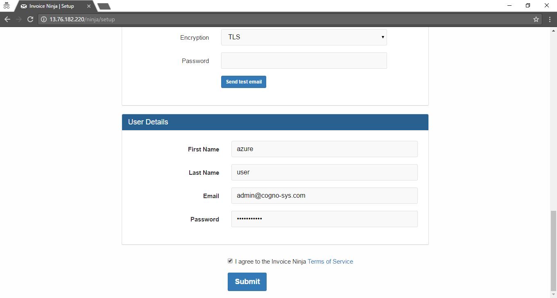 Invoice Ninja On Cloud AWS Azure Google Cloud - How to set up an invoice
