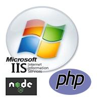 Node.js PHP IIS on Cloud