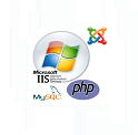 PHP MYSQL and IIS on cloud